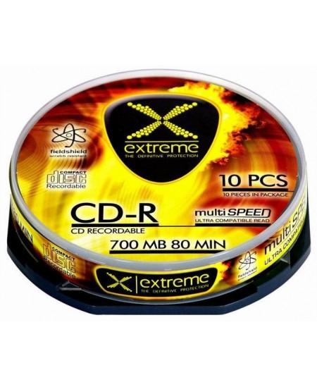 Laikmena EXTREME CD-R, 700MB, 52X, 10 vnt. iešmas