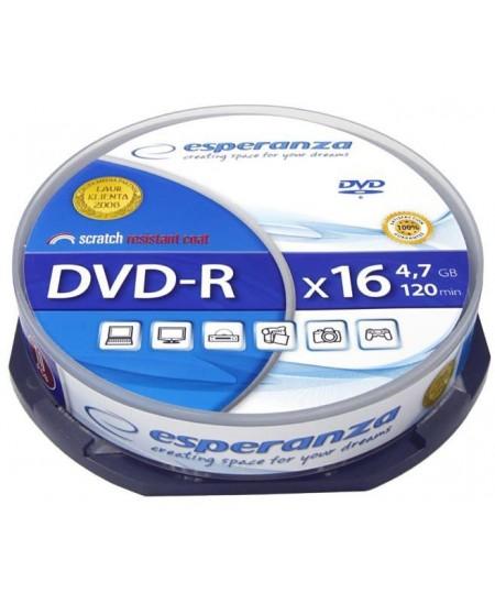 Laikmena ESPERANZA DVD-R, 4.7GB, 16X, 10 vnt. iešmas