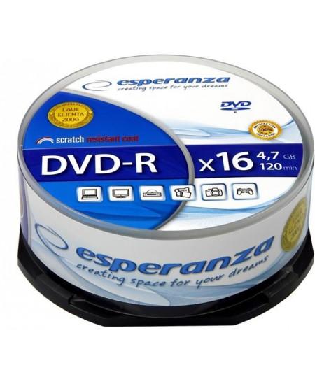 Laikmena ESPERANZA DVD-R, 4.7GB, 16X, 25 vnt. iešmas