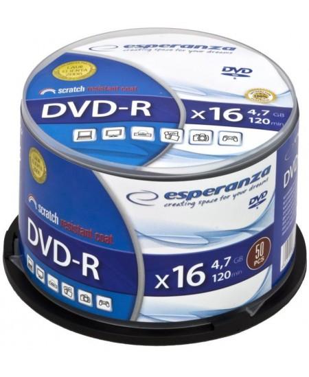 Laikmena ESPERANZA DVD-R, 4.7GB, 16X, 50 vnt. iešmas