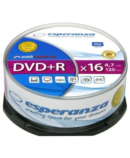 Laikmena ESPERANZA DVD+R, 4.7GB, 16X, 25 vnt. iešmas