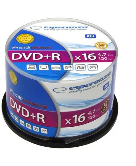 Laikmena ESPERANZA DVD+R, 4.7GB, 16X, 50 vnt. iešmas