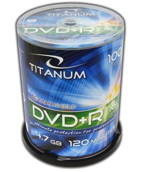 Laikmena TITANUM DVD+R, 4.7GB, 16X, 100 vnt. iešmas