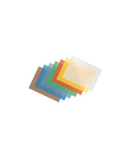 Įrišimo viršeliai, plastikiniai, 200mic, 100vnt, geltonos sp.