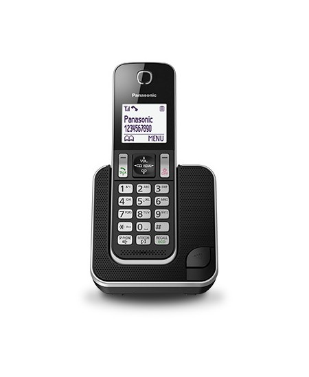 Telefonas Panasonic KX-TGD310FXB, juodas