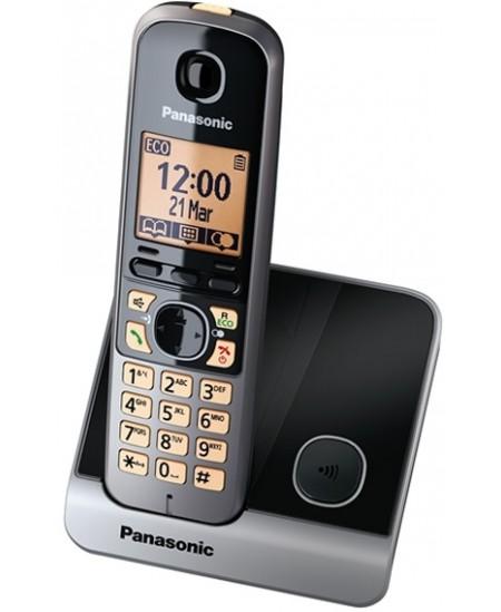Telefonas Panasonic KX-TG6811FXB, juodas