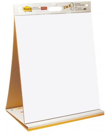 Nešiojamas lipnus susirinkimų bloknotas-rašomoji lenta Post-it 508x584mm, 20 lapų