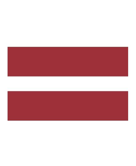 Šilkografinė kabinama Latvijos vėliava. Matmenys apie 170x100cm