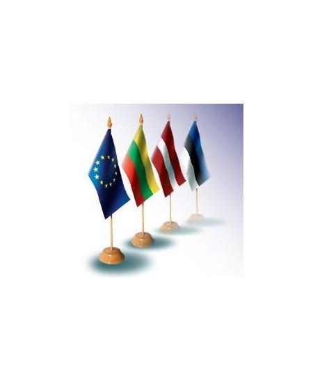 Valstybinė stalo vėliavėlė 25,5x15cm su mediniu stoveliu