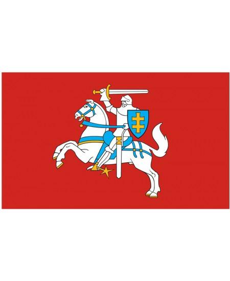 Lietuvos istorinė vėliava - Vytis, su raišteliais, 100x170 cm