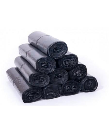 Šiukšlių maišai, 60 litrų, rulone 10 vnt., storis 30 µm, LDPE