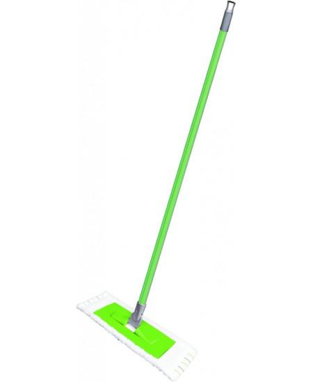 Mikropluošto šluostė su rėmu grindų plovimui su kotu