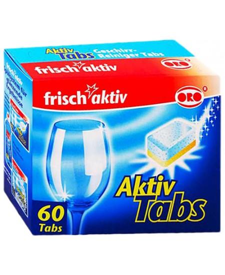 Indaplovių tabletės ORO Frisch Aktiv, 60 vnt