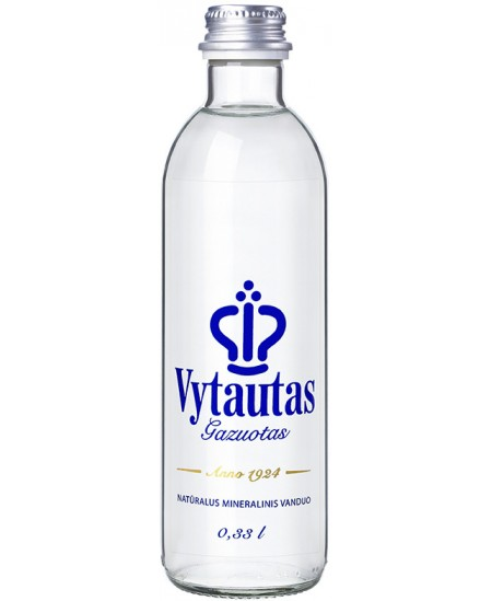 Natūralus mineralinis vanduo VYTAUTAS, 330 ml, stikle, gazuotas