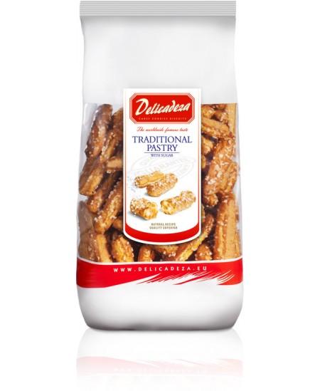 Traškūs sausainiai su cukrumi DELICADEZA