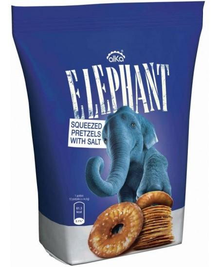 Traškūs krekeriai ELEPHANT su druska, 80 g