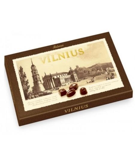 Juodojo šokolado saldainių asorti LAIMA VILNIUS, 360 g