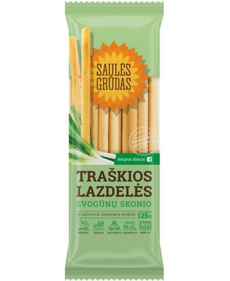 Traškios lazdelės SAULĖS GRŪDAS su svogūnais, 125 g