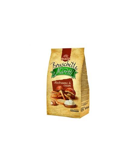 Duonos traškučiai MARETTI grybų ir grietinėlės skonio, 70 g