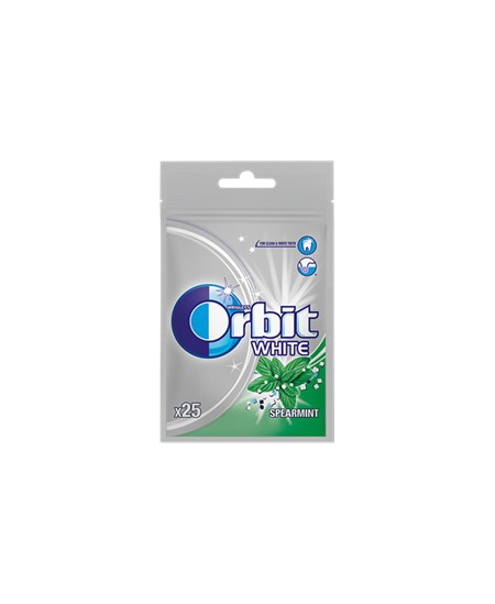Kramtomoji guma ORBIT WHITE SPEARMINT maišelyje, 35 g