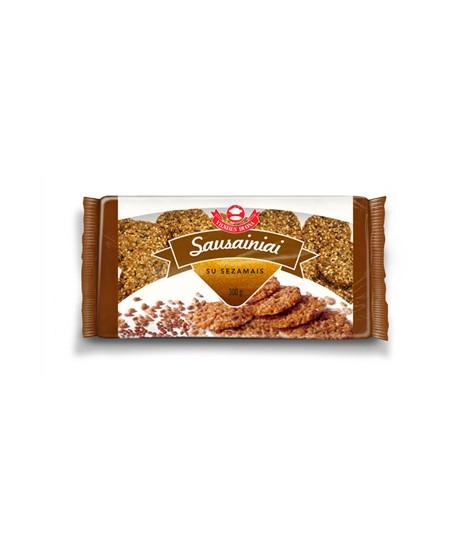 Sausainiai VILNIAUS DUONA su sezamais, 300g