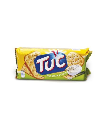 Grietinės ir svogūnų skonio krekeriai TUC SOUR CREAM & ONION, 100 g