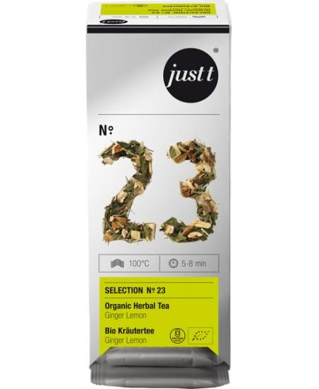 Arbata JUST T ekologiška žolelių su imbieru ir citrina (Ginger lemon) Nr. 23, 25 vnt.