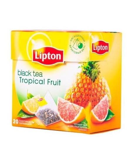 Arbata LIPTON NIRVANA, tropinių vaisių skonio, 20 vnt.