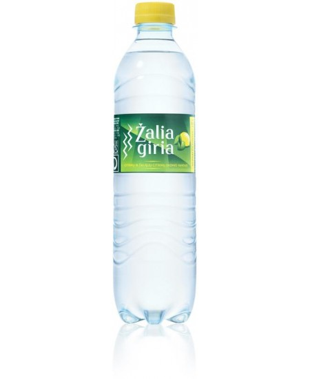 Šaltinio vanduo ŽALIA GIRIA, 500 ml, citrinų skonio, silpnai gazuotas
