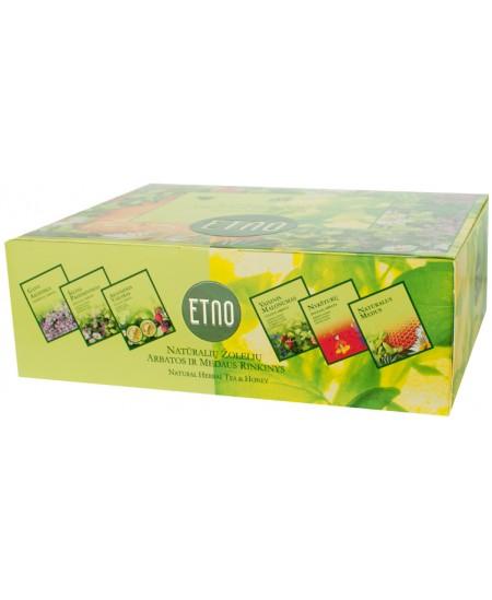 Žolelių arbatos rinkinys ETNO, arbata su medumi, 180 g