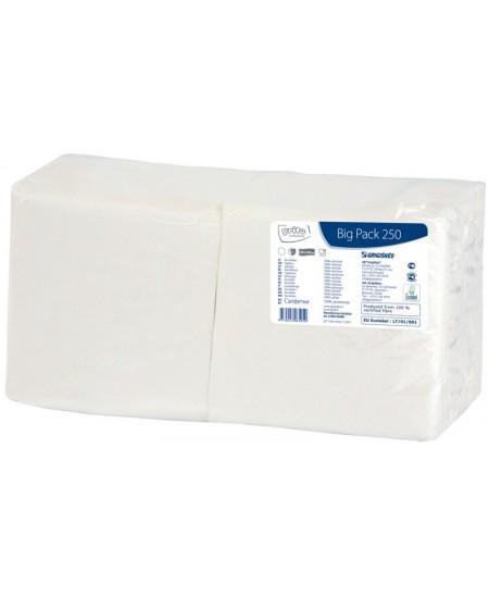 Stalo servetėlės GRITE, baltos spalvos, 1 sluoksnio, 24x24 cm, 250 vnt.