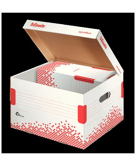 Archyvinė dėžė - konteineris ESSELTE, 433x263x364 mm, balta