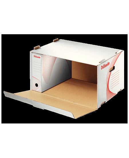 Archyvinė dėžė - konteineris ESSELTE, atidaromas iš šono, 360x258x540 mm, balta