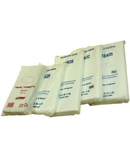 Pakavimo maišeliai 14/4x26cm, 1000vnt., HDPE