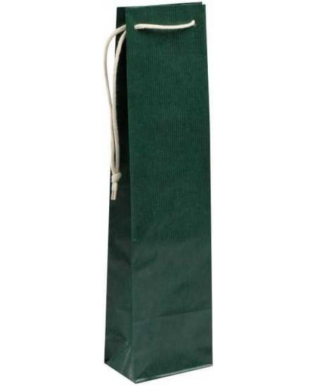 Dovanų maišelis buteliui, 95x95x380cm, žalias