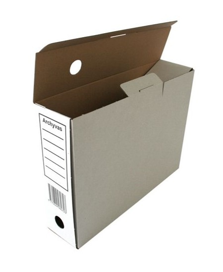 Archyvinė dėžė SM-LT, 80x340x250 mm, mikrogofro, su spauda, balta