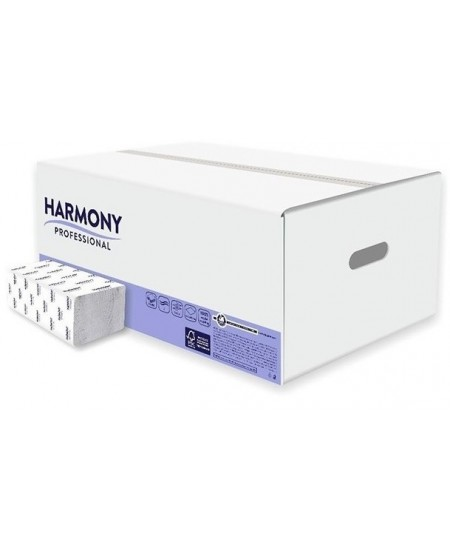 Lapiniai popieriniai rankšluosčiai HARMONY Comfort, V lenkimas, 150 lap., 1 pakelis