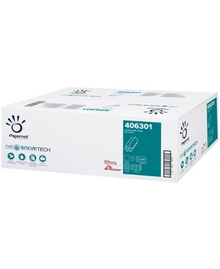 Lapiniai popieriniai rankšluosčiai PAPERNET RECYCLED Z-FOLDED, 406301, 1 pakelis