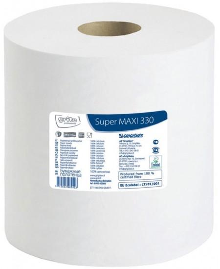 Popieriniai rankšluosčiai ritinyje GRITE Super MAXI 330, 1 ritinys