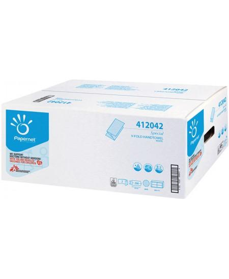 Lapiniai popieriniai rankšluosčiai PAPERNET 412042, 1 pakelis
