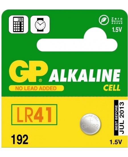 Elementas GP192 LR41/AG3, 1 vnt.