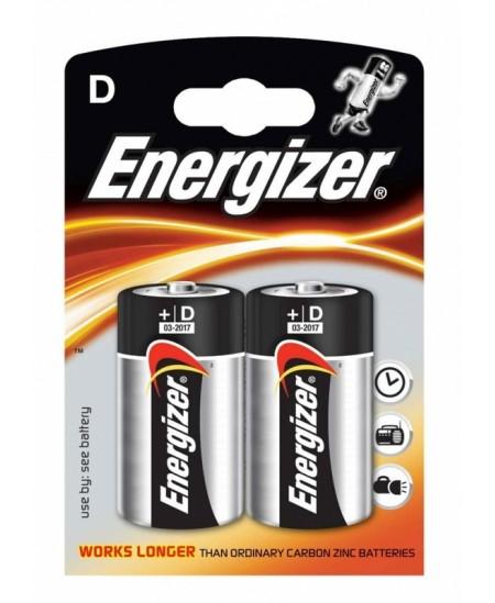 Elementai ENERGIZER LR20 (D), 2 vnt.
