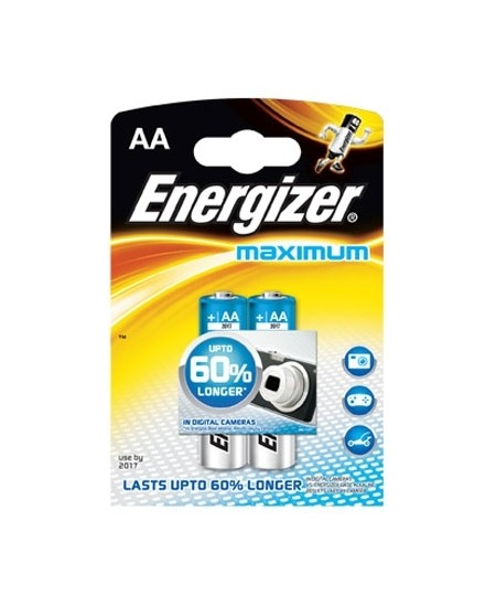 Elementai Energizer Maximum LR6 (AA), 2 vnt.