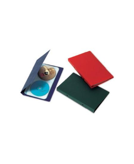 CD dėklas EAGLE, 8 įmautės, telpa 32 CD, mėlynas