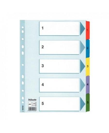 Skiriamieji lapai ESSELTE, 1-5, spalvoti, daugkartiniai, A4+