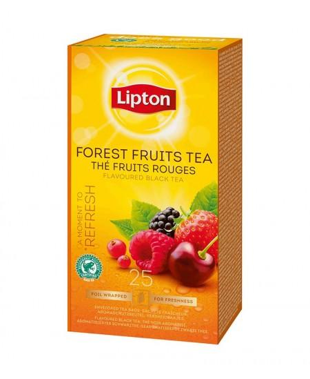 Arbata LIPTON FOREST FRUIT, juodoji, miško uogų skonio, 25 vnt.