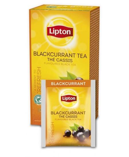 Arbata LIPTON BLACK CURRANT, vaisinė, juodųjų serbentų skonio, 25 vnt.