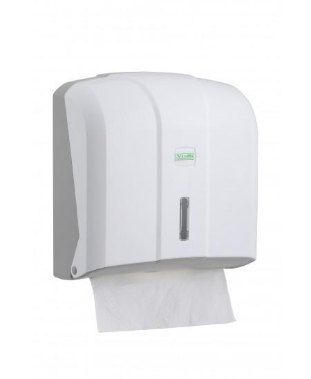 Popierinių rankšluosčių servetėlėmis laikiklis VIALLI, V formos, baltas