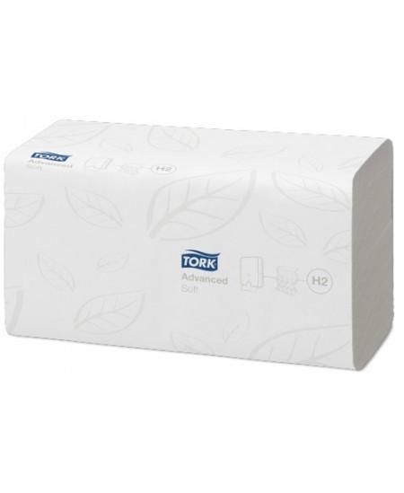 Lapiniai popieriniai rankšluosčiai TORK Advanced Soft H2, 120289, 1 pakelis