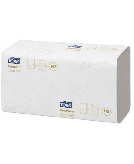 Lapiniai popieriniai rankšluosčiai TORK Premium Extra Soft (H2), 100297, W lenk., 100 serv., 1 pak.